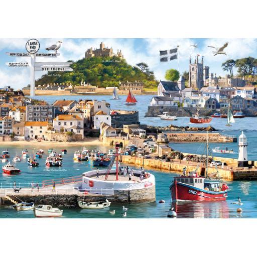 Rectangular Jigsaw - Cornwall Montage