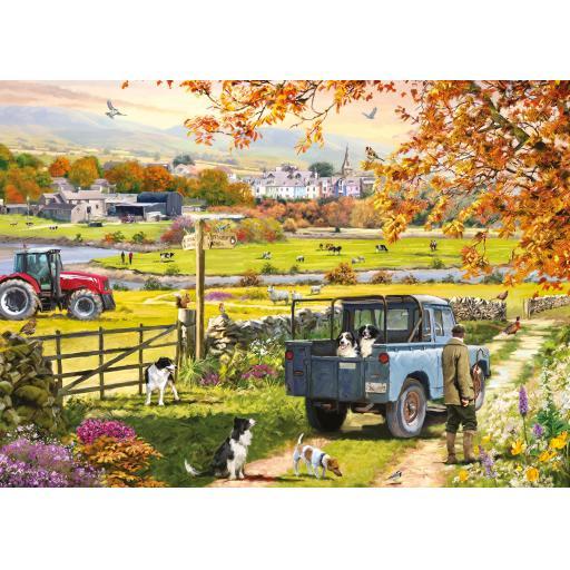 Rectangular Jigsaw - Countryside Morning