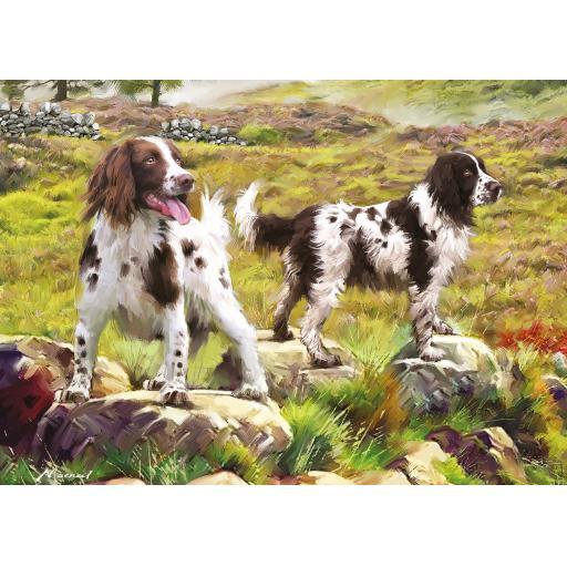 Rectangular Jigsaw - Spaniels On The Moor