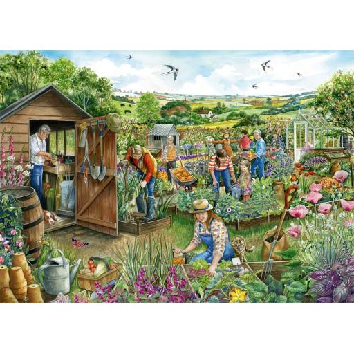 Down At The Allotment 1000 Piece Jigsaw