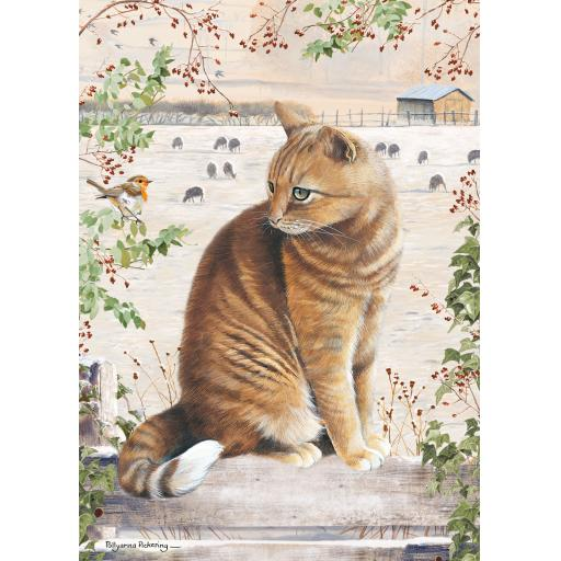 Rectangular Jigsaw - Christmas Cat