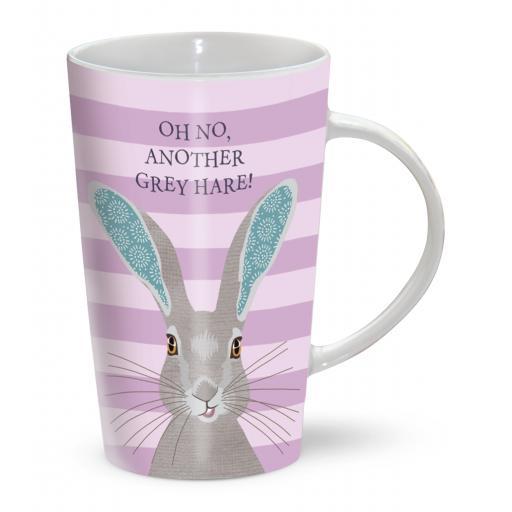 Latte Mug - Grey Hare!