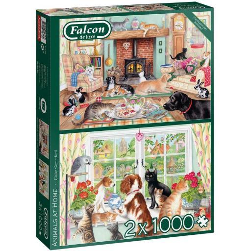 Animals At Home Set of 2 x 1000 Piece Jigsaw