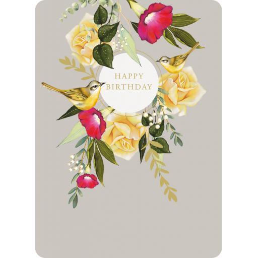 Botanical Blooms Card Collection - Yellow Bird