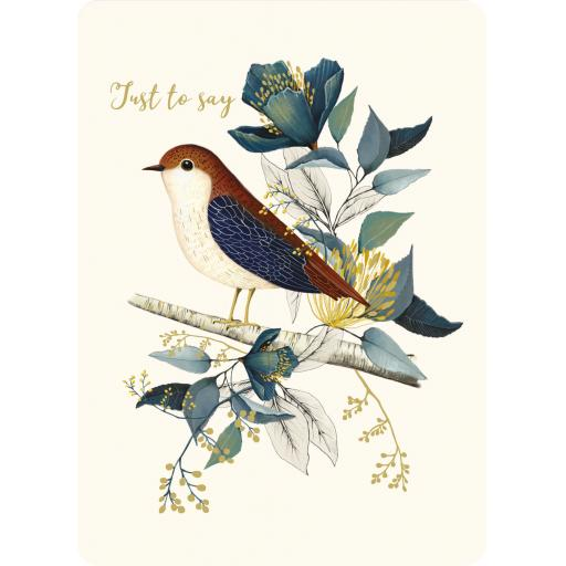 Botanical Blooms Card Collection - Copper Bird