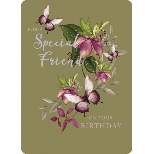Botanical Blooms Card Collection - Olive Birthday