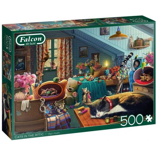 Cats In The Attic 500 Piece Jigsaw