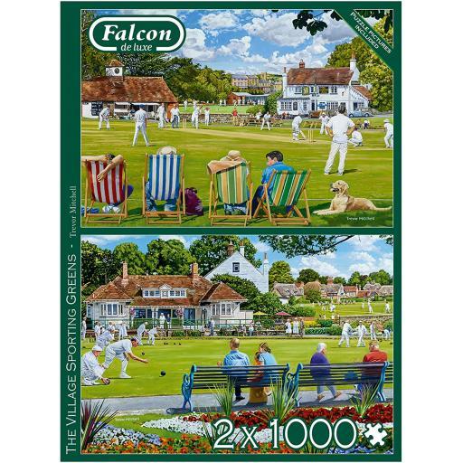 Village Sporting Greens Set of 2 x 1000 Piece Jigsaw