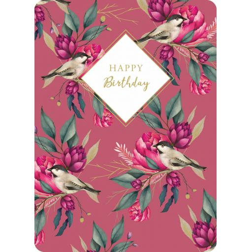 Botanical Blooms Card Collection - Raspberry Repeat