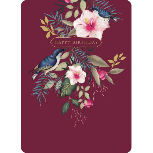 Botanical Blooms Card Collection - Blue Birds