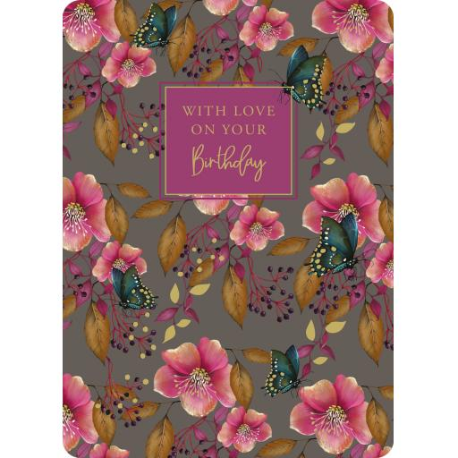 Botanical Blooms Card Collection - Pink Floral Repeat