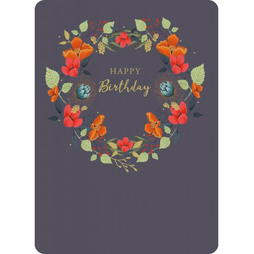 Botanical Blooms Card Collection - Wreath Birthday