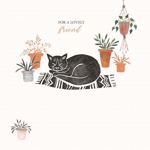 Brush & Ink Card Collection - Cat On A Mat
