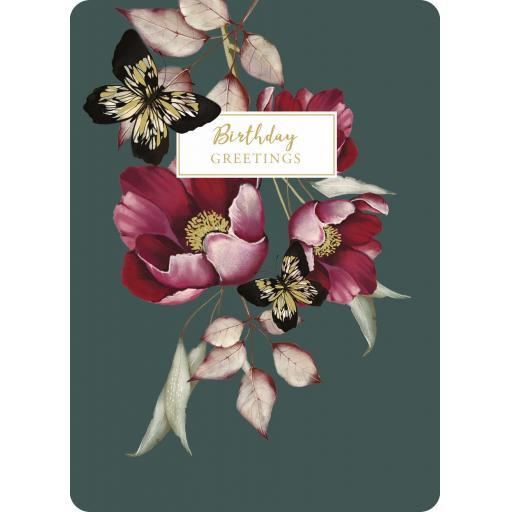 Botanical Blooms Card Collection - Deep Pink Butterflies
