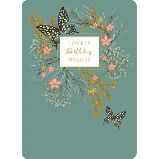 Botanical Blooms Card Collection - Black Butterflies