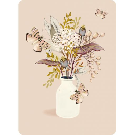 Botanical Blooms Card Collection - Peach With Vase