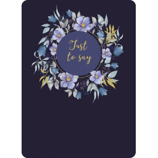 Botanical Blooms Card Collection - Navy Floral