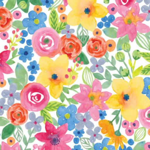Tissue Pack - Watercolour Floral
