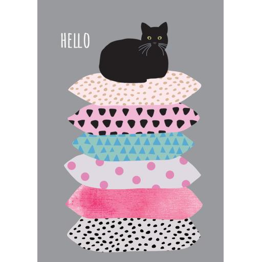 Notecard Pack - Cat & Cushions
