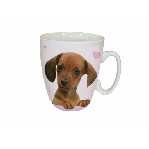 Curved Mug - Cute Dachshund