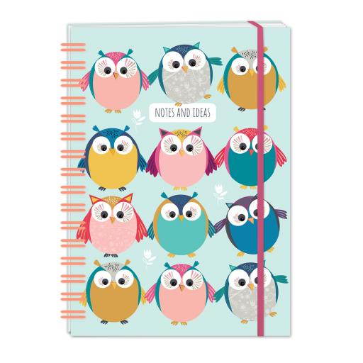 Little Owls Stationery - A5 Hardcover Notebook