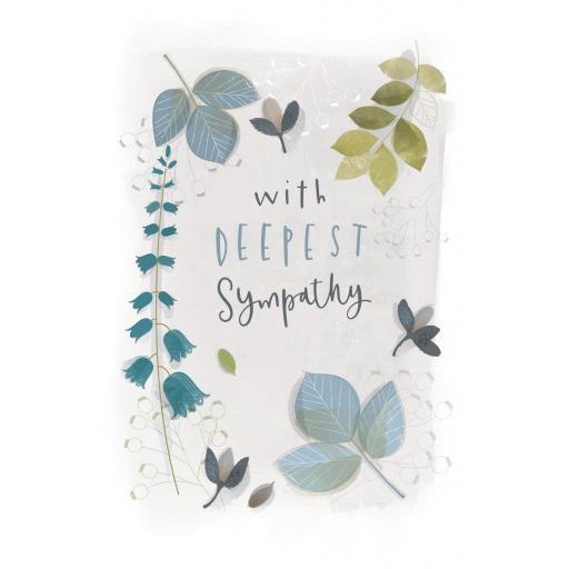 Sympathy Card - Sympathy Leaves