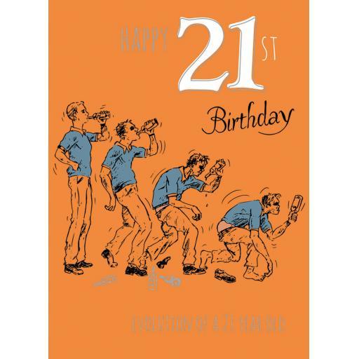 Age To Celebrate Card - 21 Evolution