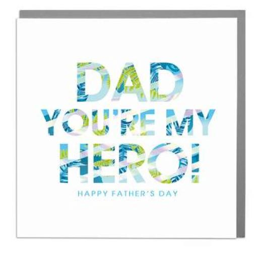 Fathers Day Card - You're My Hero