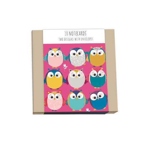 Little Owls Stationery - Square Notecard Pack