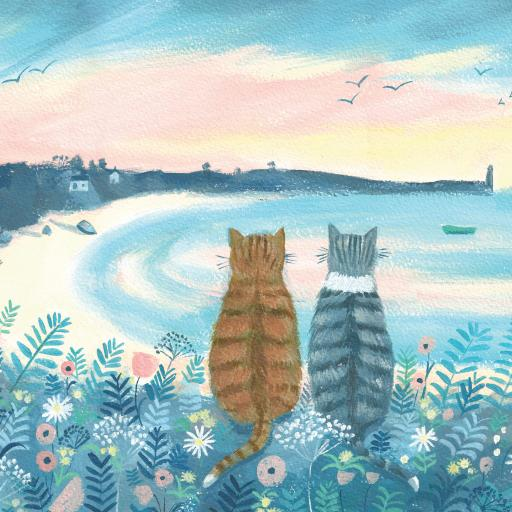 Quayside Gallery Card Collection - Sunset Cats