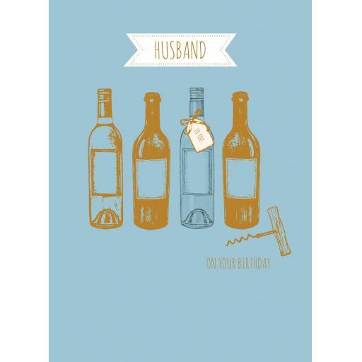 Family Circle Card - Gold Bottles (Husband)