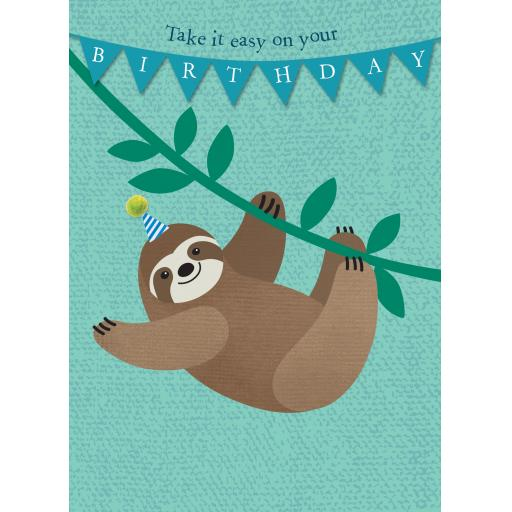 Pom Poms Card Collection - Sloth