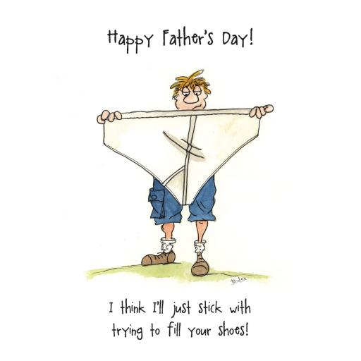 Fathers Day Card - Fill Your Shoes