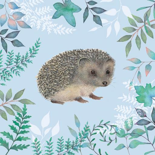 Vintage Garden Card - Hedgehog