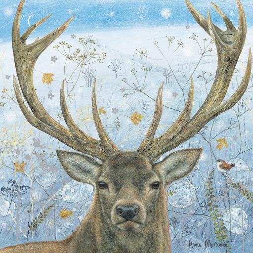 Enchanted Wildlife Card - Winter Stag