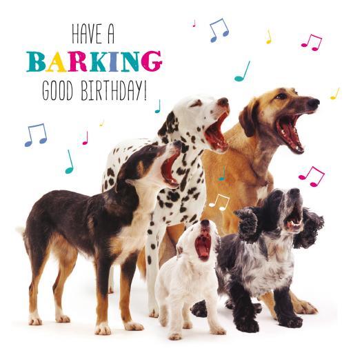 Pet Pawtrait Card - Dog Song (Birthday Card)