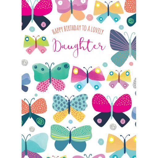Family Circle Card - Butterflies (Daughter)