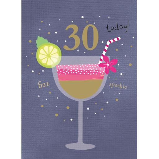 Age To Celebrate Card - 30 Cocktails