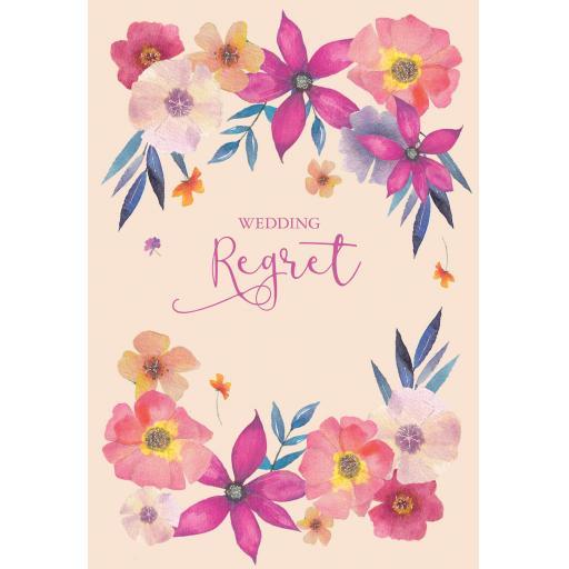 Wedding Regret Card - Floral