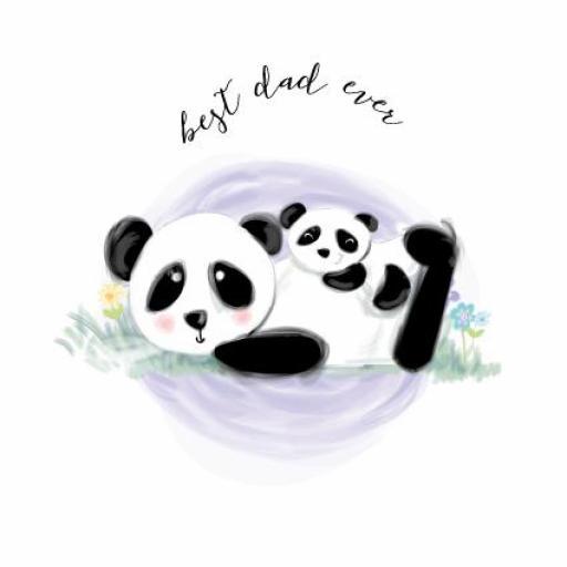 Fathers Day Card - Panda Dad