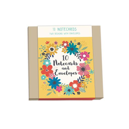 Bohemia Stationery - Square Notecard Pack (10 Cards)