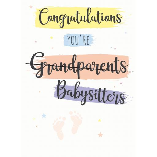 New Baby Card - Babysitters (Grandparents)