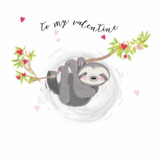 Valentines Day Card - Valentine Sloth