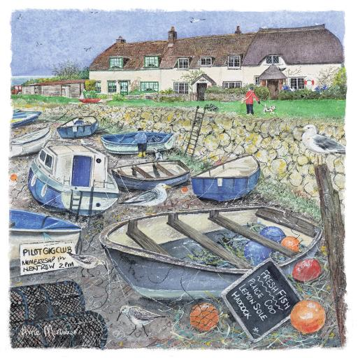 Seaside Charm Card - Harbour Cottages