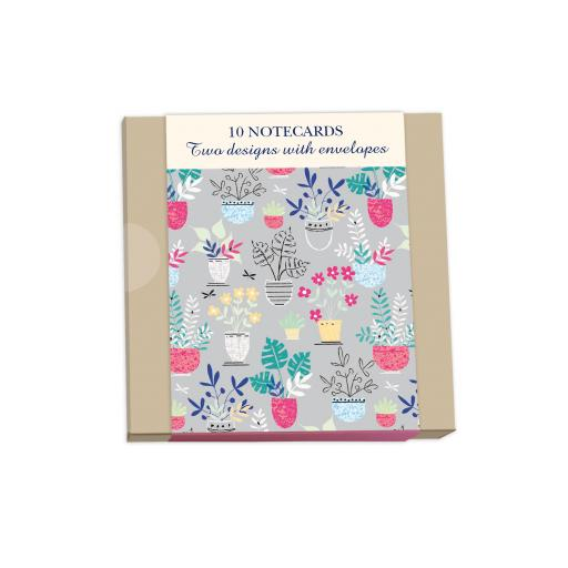 Notecard Wallets (10 Cards) - Flowerpot Pattern