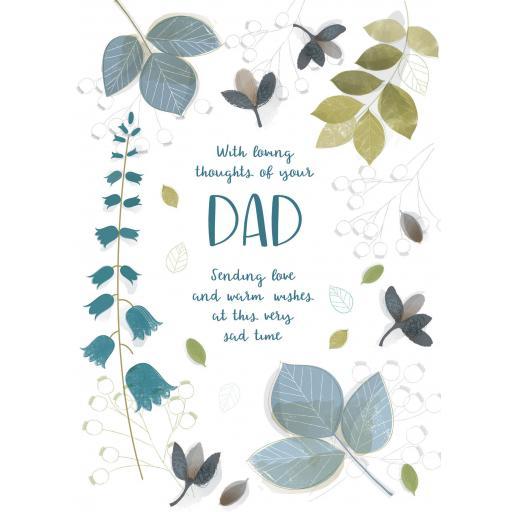 Sympathy Card - Leaf Design (Dad)