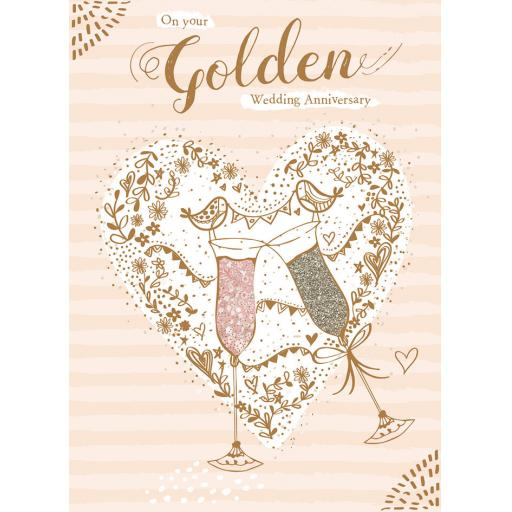Anniversary Card - Champagne Flutes (Your)
