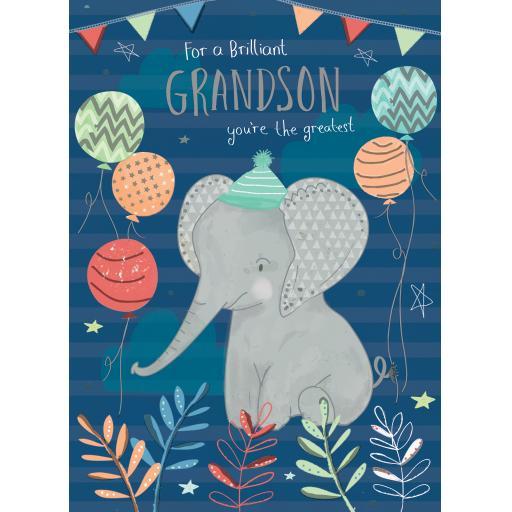 Family Circle Card - Elephant (Grandson)