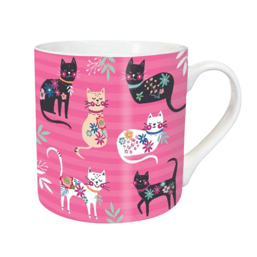 Tarka Mugs - Cat Pattern