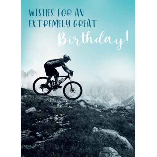 First Class Male Card - Mountain Bike